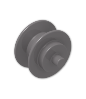 Dark Bluish Gray Wheel Center Small with Stub Axles (Pulley Wheel)