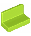Lime Panel 1 x 2 x 1 with Rounded Corners