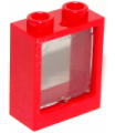 Red Window 1 x 2 x 2 Flat Front with Trans-Black Glass
