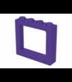 Dark Purple Window 1 x 4 x 3 Train - 2 Hollow Studs and 2 Solid Studs