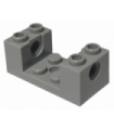 Dark Bluish Gray Technic, Brick 2 x 4 x 1 1/3 with Holes and 2 x 2 Cutout