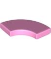 Bright Pink Tile, Round Corner 2 x 2 Macaroni