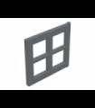 Dark Bluish Gray Window 2 x 4 x 3 Pane