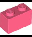 Coral Brick 1 x 2