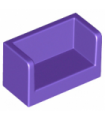 Dark Purple Panel 1 x 2 x 1 with Rounded Corners and 2 Sides