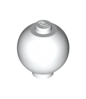 White Brick, Round 2 x 2 Sphere with Stud / Robot Body