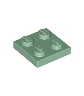 Sand Green Plate 2 x 2