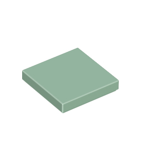 Sand Green Tile 2 x 2 with Groove