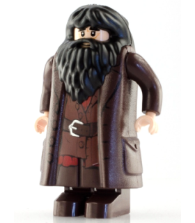 Rubeus Hagrid, Dark Brown Topcoat with Buttons (Light Nougat Version with Movable Hands)