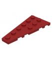 Dark Red Wedge, Plate 6 x 3 Left
