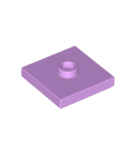 Medium Lavender Plate, Modified 2 x 2 with Groove and 1 Stud in Center (Jumper)