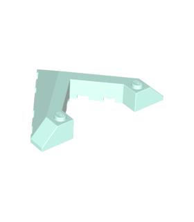Light Aqua Wedge 6 x 8 Pointed Cutout
