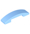 Bright Light Blue Slope, Curved 4 x 1 Double