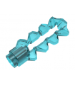 Trans-Light Blue Minifig, Weapon Sword, Double Blade Serrated with Bar Holder