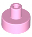 Bright Pink Tile, Round 1 x 1 with Bar and Pin Holder