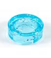 Glitter Trans-Light Blue Tile, Round 1 x 1