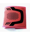Dark Red Slope, Curved 2 x 2 with Curved Black Line and Vents Pattern (Sticker) - Set 60207