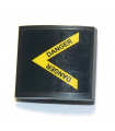 Black Slope, Curved 2 x 2 with Yellow Stripes and 'DANGER' Pattern (Sticker) - Set 60207