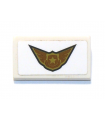 White Slope 30 1 x 2 x 2/3 with Police Badge and Wings Pattern (Sticker) - Set 60207