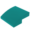 Dark Turquoise Slope, Curved 2 x 2