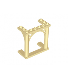Tan Brick, Arch 3 x 6 x 5 Ornamented