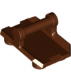 Reddish Brown Plate, Modified 2 x 3 Inverted with 4 Studs and Bar Handle on Bottom - Closed Ends