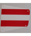 White Cloth Sail 19 x 17 with Red Thick Stripes Pattern