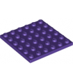 Dark Purple Plate 6 x 6