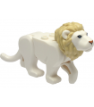 White Cat, Large (Lion) with Tan Mane, Bright Light Blue Eyes and Nougat Nose Pattern
