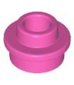 Dark Pink Plate, Round 1 x 1 with Open Stud