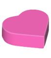 Dark Pink Tile, Round 1 x 1 Heart