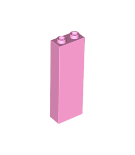 Bright Pink Brick 1 x 2 x 5 - Blocked Open Studs or Hollow Studs