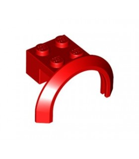 Red Vehicle, Mudguard 4 x 2 1/2 x 2 with Arch Round