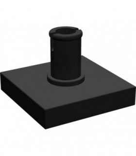Black Tile, Modified 2 x 2 with Pin