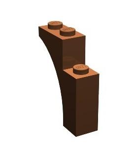 Reddish Brown Brick, Arch 1 x 3 x 3