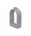 Light Bluish Gray Window 1 x 2 x 2 2/3 with Rounded Top