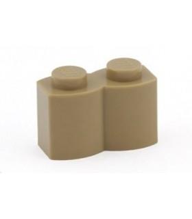 Dark Tan Brick, Modified 1 x 2 Log