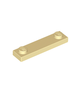 Tan Plate, Modified 1 x 4 with 2 Studs