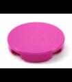 Dark Pink Tile, Round 2 x 2 with Bottom Stud Holder