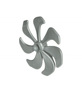 Pearl Light Gray Propeller 7 Blade 6 Diameter