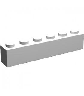 White Brick 1 x 6