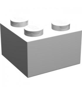 White Brick 2 x 2 Corner