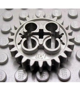 Light Gray Technic, Gear 24 Tooth (Old Style with Three Axle Holes)