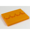 Orange Tile, Modified 3 x 4 with 4 Studs in Center