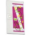 White Door 1 x 4 x 6 with Stud Handle with Sticker - Set 41039